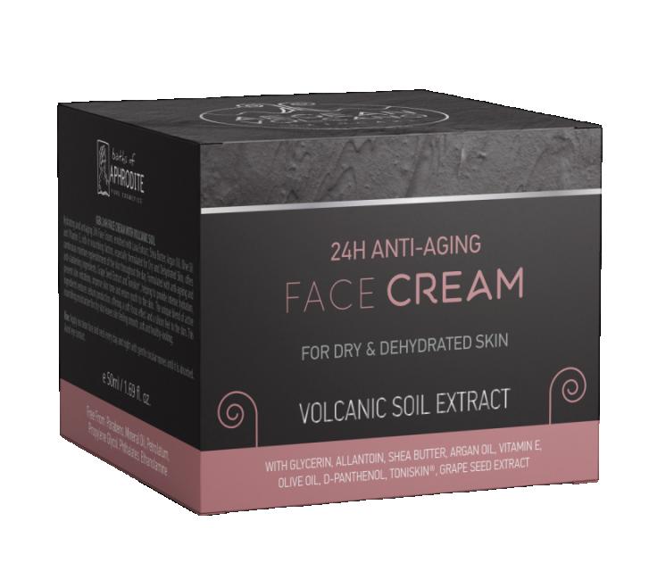 Cremă Anti-îmbătrânire 24h pentru Față, cu Extract Vulcan Marea Egee, 50ml