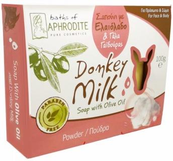 Săpun cu Lapte de Măgăriță și Pudră, 100g