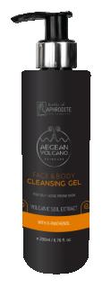 Gel Curățare pentru Față și Corp, cu Extract Vulcan Marea Egee, 200ml